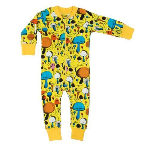 39e12ab5b Duns Sweden Organic Zip Suit - Yellow Mushroom