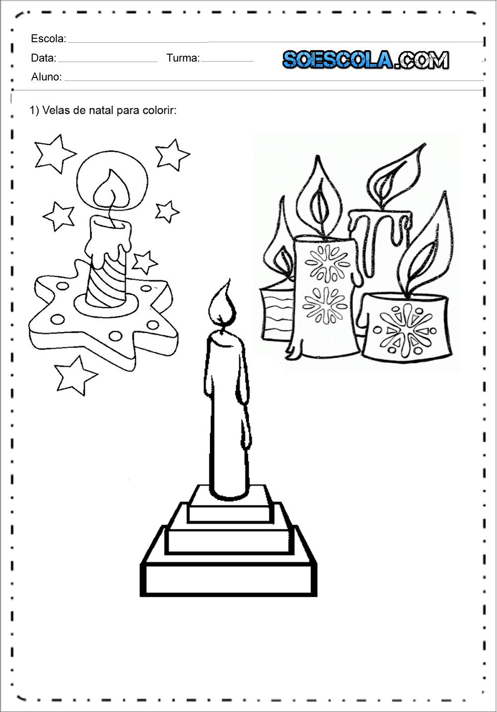 Desenhos De Velas De Natal Para Colorir E Imprimir Desenhos