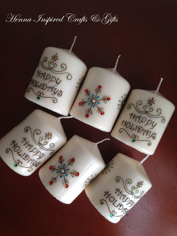 Hy Holidays Teacher S Gift Christmas Por Hennacraftsbypramila Gifts Henna Candles
