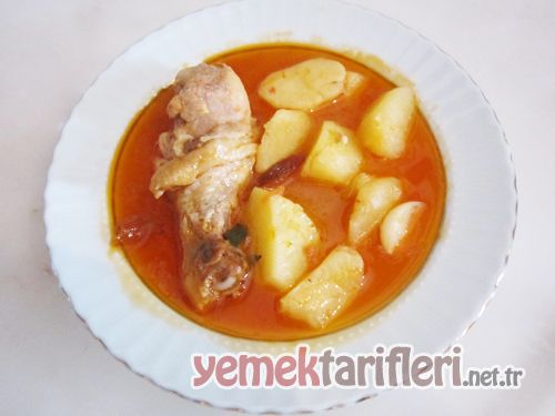 Tavuklu Sulu Yemek Tarifleri Yemek Sulu Tavuklu Patates