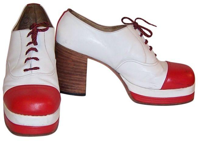 Disco shoes, Mens platform shoes, Old shoes