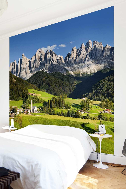 Carta da parati quadrata Odle in South Tyrol (con