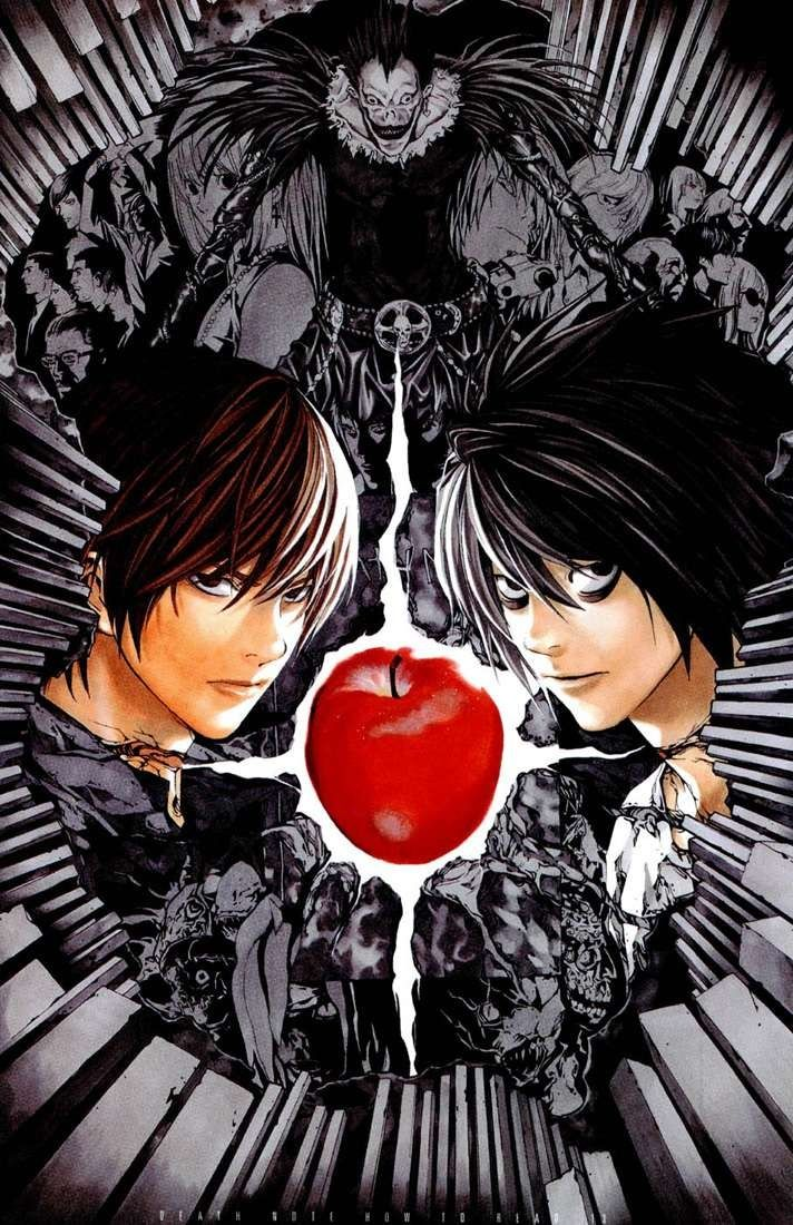 DeathNote Light Yagami and L Lawliet イラスト, マンガアート