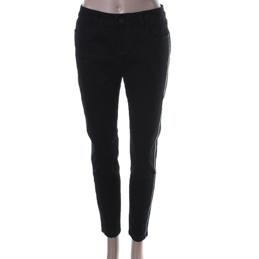 Kensie Womens Twill Beaded Skinny Pants