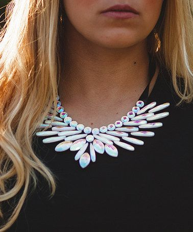 Look what I found on #zulily! Rainbow Crystal Henrondon Statement Necklace…