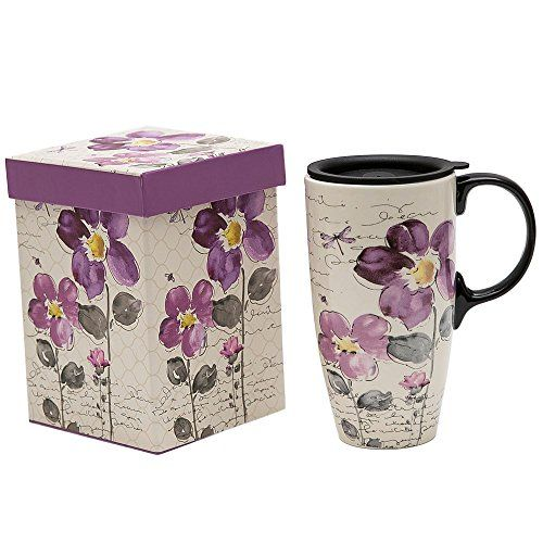 b374ab88149 A-Ting-Tall-Ceramic-Travel-Mug-17-oz-Sealed-Lid -With-Gift-Box-Purple-Flower-purple-flower-0