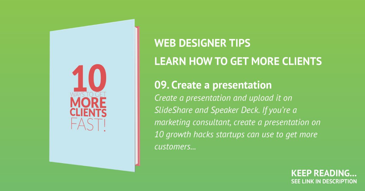 Create a presentation and upload it on SlideShare and