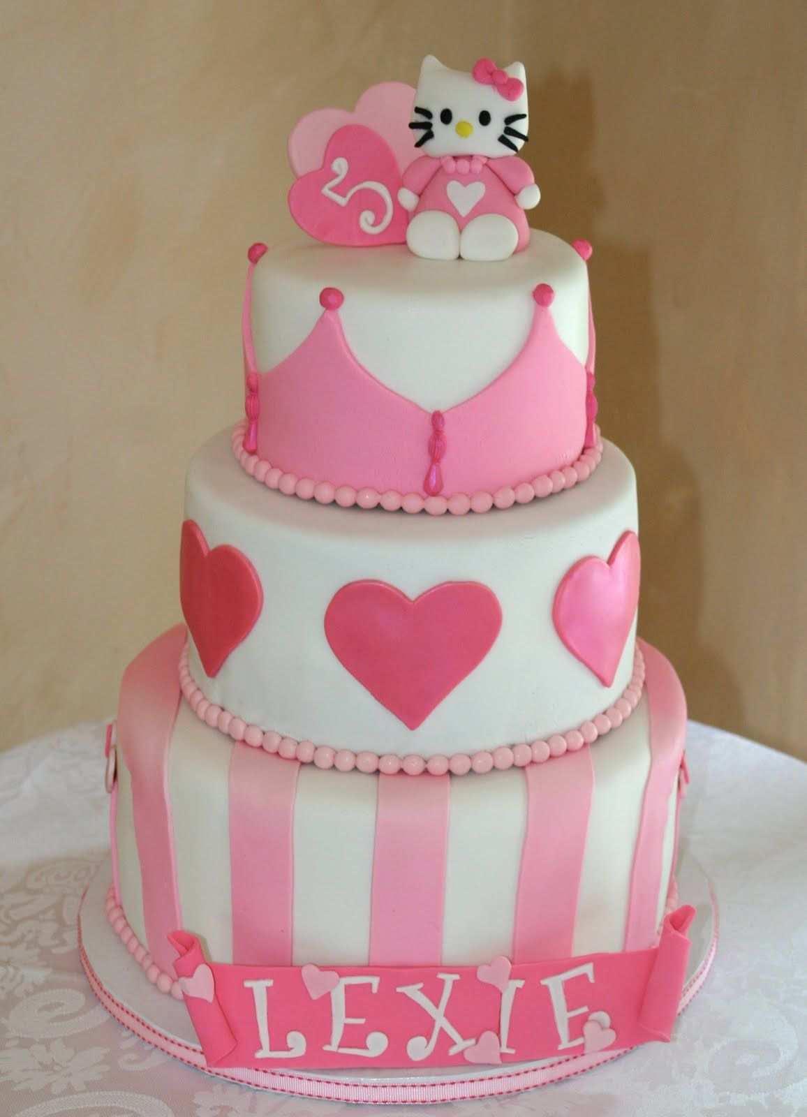 Little Girl Birthday Cake This Would Be Perfect For My