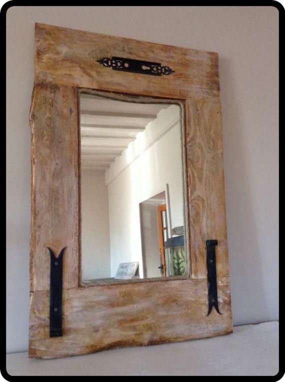 Miroir en bois de récup bois
