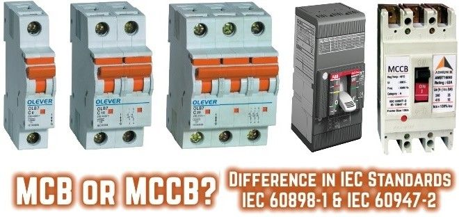 Difference Between MCB & MCCB According To IEC Standards | Pinterest