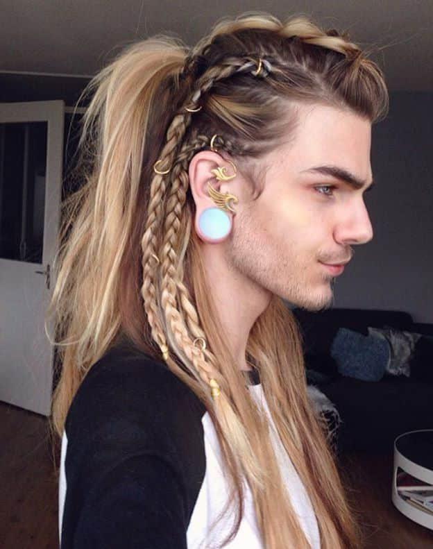 Mens Viking Hairstyles Hairmanstyles In 2020 Viking Hair Hair Styles Braids For Long Hair