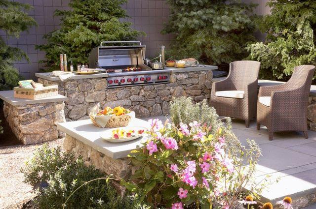 Outdoor Küche Ziegel : Gartengrill terrasse ziegel naturstein selber bauen coole ideen