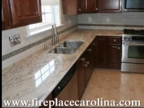 Granite Countertops Installed In Mint Hill Nc Deja Vu 6 17 13 Http Www Fireplacecarolina Com D Dark Wood Kitchens Dark Wood Kitchen Cabinets Kitchen Cabinets