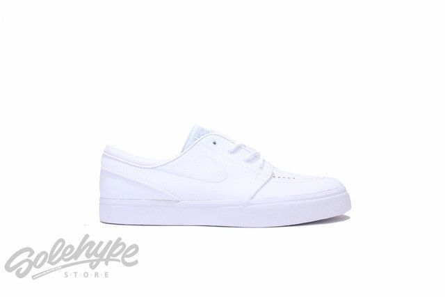 first rate cb8e3 33542 ... Nike sb zoom stefan janoski l white wolf grey leather 616490 110   Nike,  ...