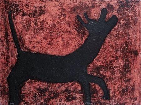 Rufino Tamayo, perro -1979 on ArtStack #rufino-tamayo #art