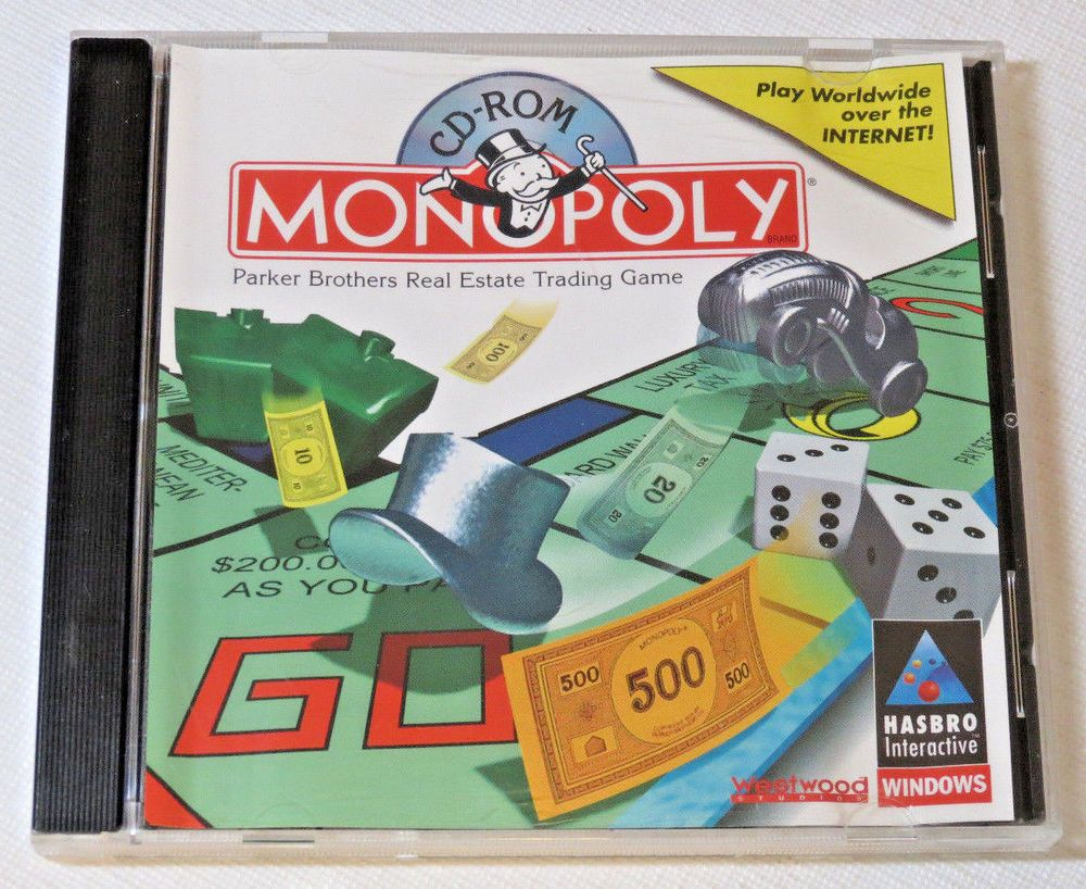 Monopoly cd rom hasbro interactive windows westwood studios kids to adults