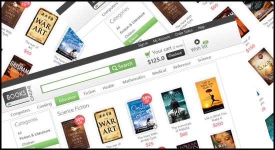 Online book store e commerce blogger template psd design business online book store e commerce blogger template psd design maxwellsz