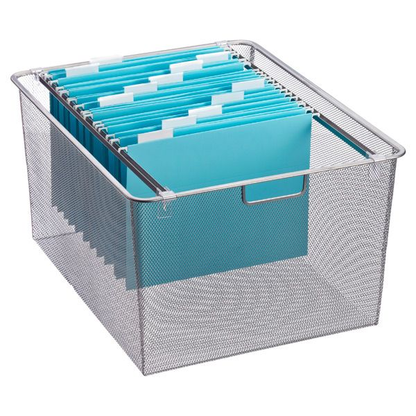 Decorative Hanging File Storage Boxes Platinum Elfa Drawer File Channels  Container Store Drawers And