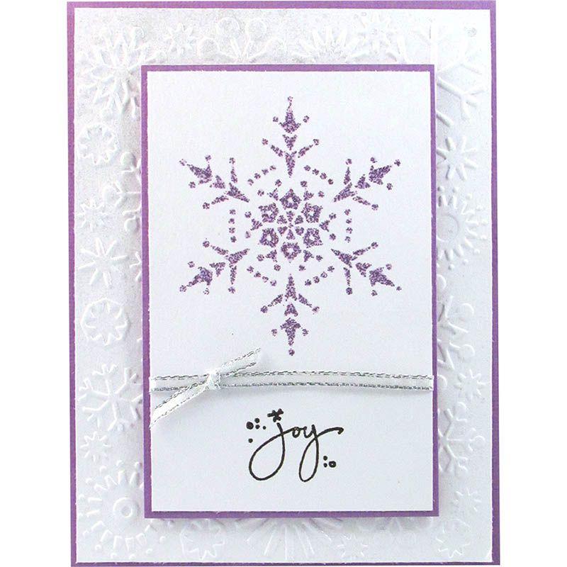 Krissy Fossmeyer finds joy in a beautiful snowflake.