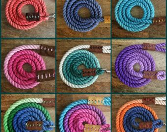 6ft Custom Dyed Ombre Rope Dog Leash