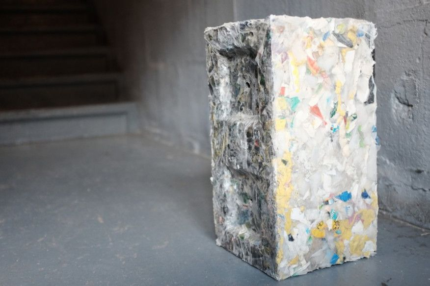 This Week In Tech Building Blocks Made From Waste Plastic Sustainable Building Materials Green Building Materials Recycled Plastic