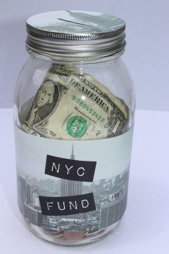 NEW YORK PERSONALISED HOLIDAY SAVINGS MONEY BOX TRAVEL FUND