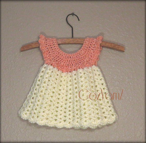 1f1a6a484 Newborn crochet dress
