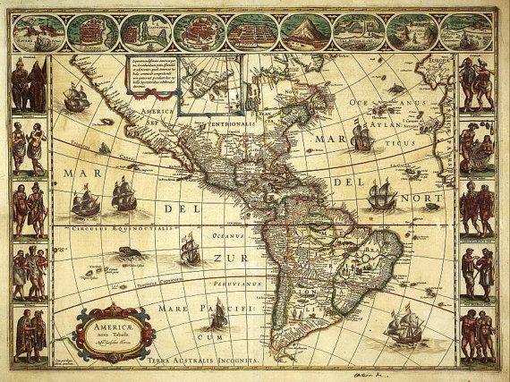 Amerique blaeu antique world maps old world map illustration amerique blaeu antique world maps old world map illustration digital image ancient maps 55 publicscrutiny Image collections