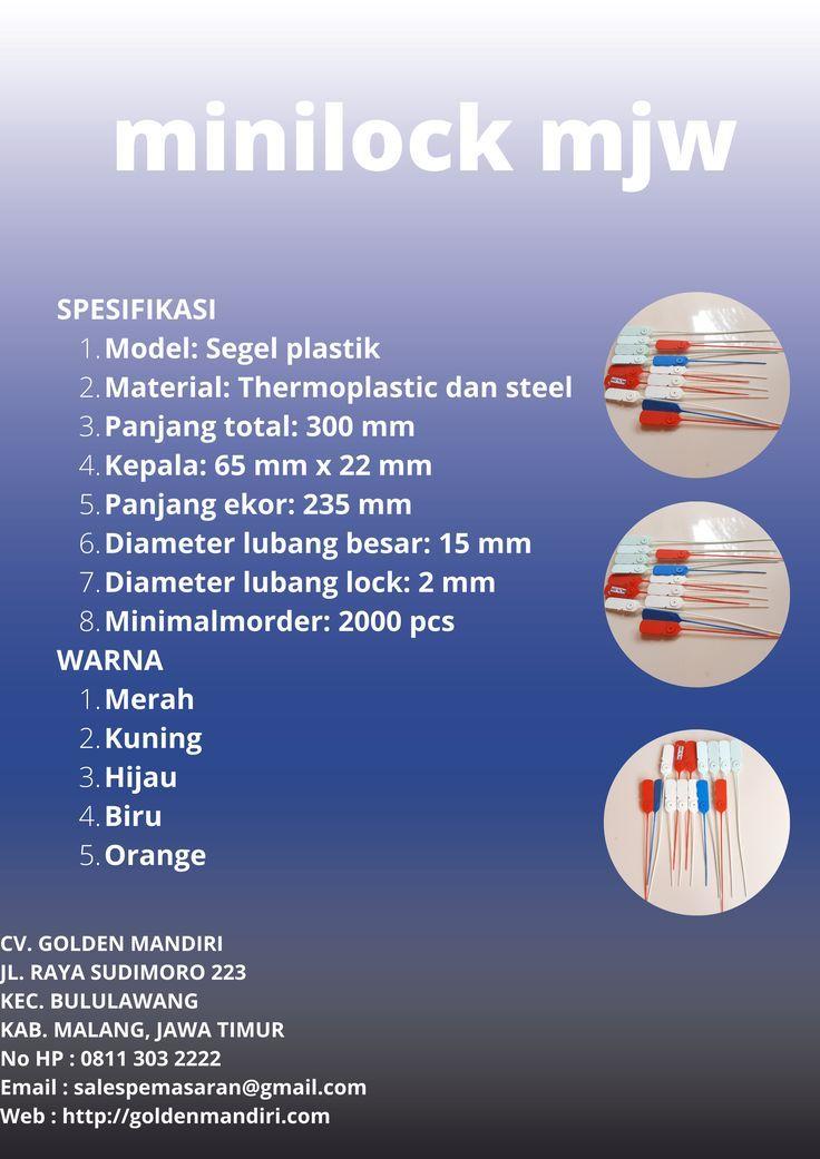 mini lock mjw |  plastic seal |  container seal