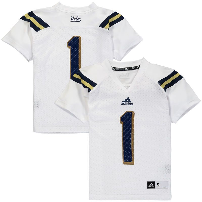 UCLA Bruins adidas Youth #1 Replica Master Jersey - White