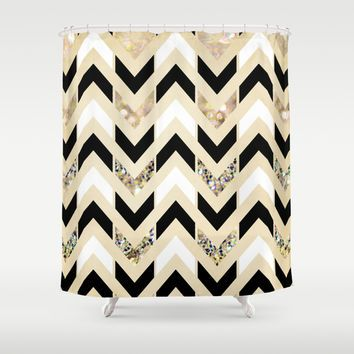 navy and gold shower curtain. Best Black And Gold Shower Curtain Products on Wanelo  art