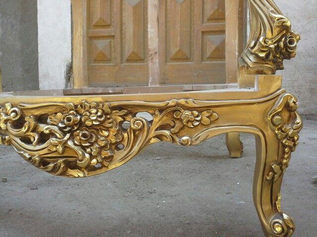 Golden Wood Chair