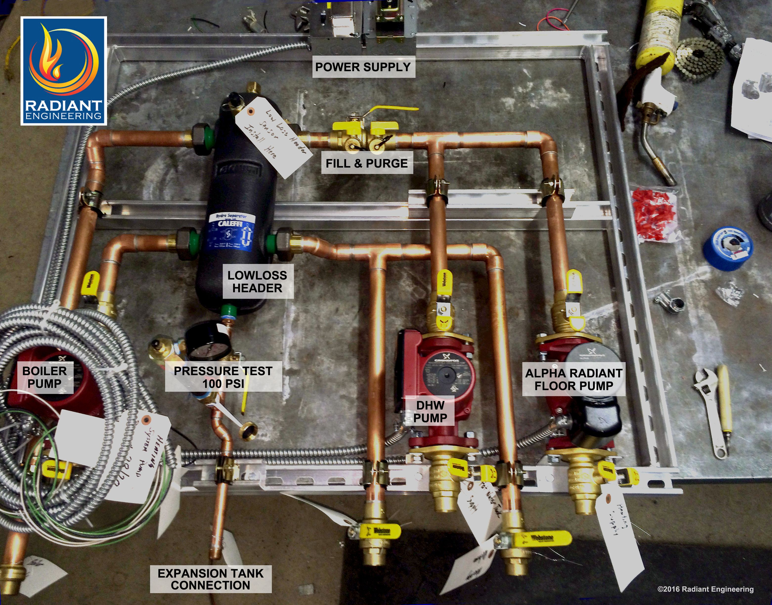 For A Vitodens 200 This Is A Custom Fabricated Hydronic System Buildup Containing The Underfloor Heating Systems Floor Heating Systems Radiant Heating System
