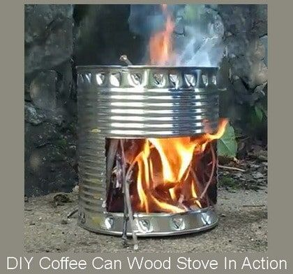 Diy Wood Stove How To Make From A Coffee Can Diy Wood