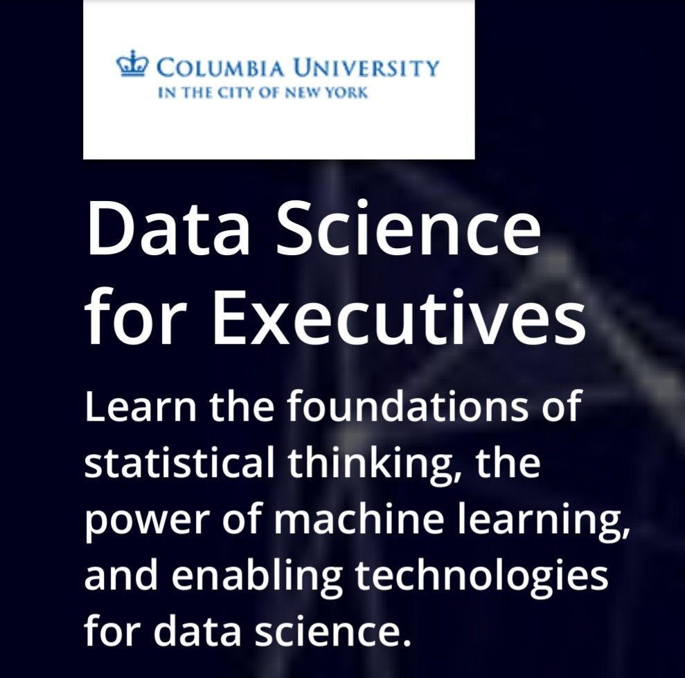 Data science for executives professional certificate program data science for executives professional certificate program columbia university on edx 1betcityfo Choice Image