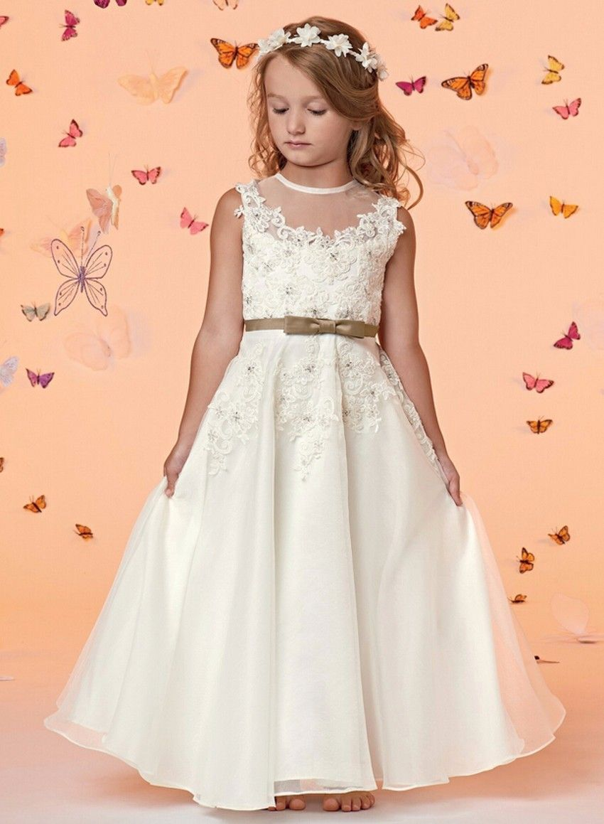 Find More Flower Girl Dresses Information About Lovely Fashion White