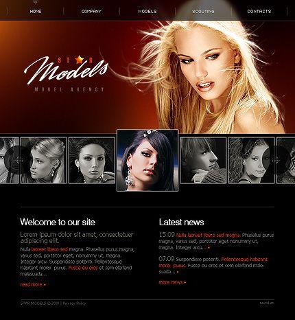 Star Model Flash Templates By Maxwell Model Agency