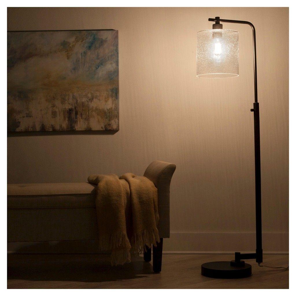Hudson Industrial Floor Lamp Black Includes Energy