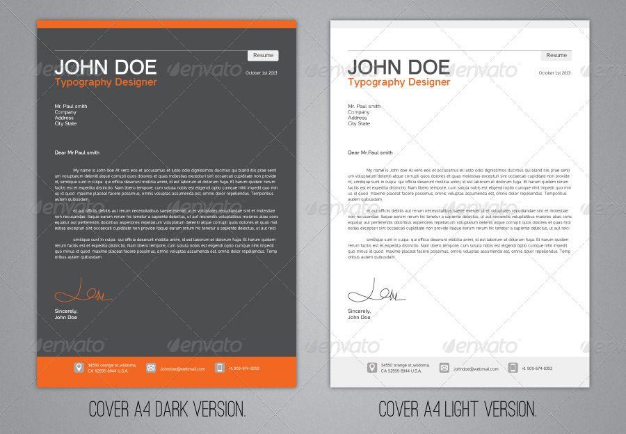Typo Resume Resume Template Professional Typography Graphic Resume