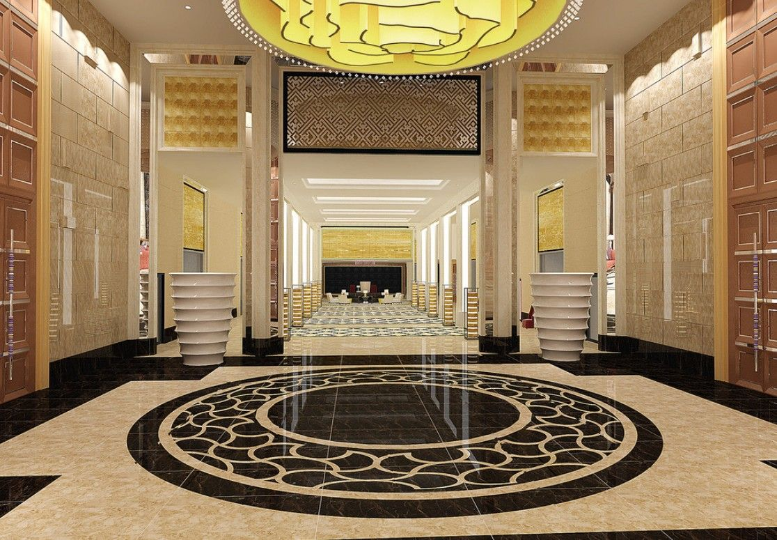 3d rendering luxury hotel lobby china luxury china hotel lobby - Hotel Corridor Interior Design In 3d