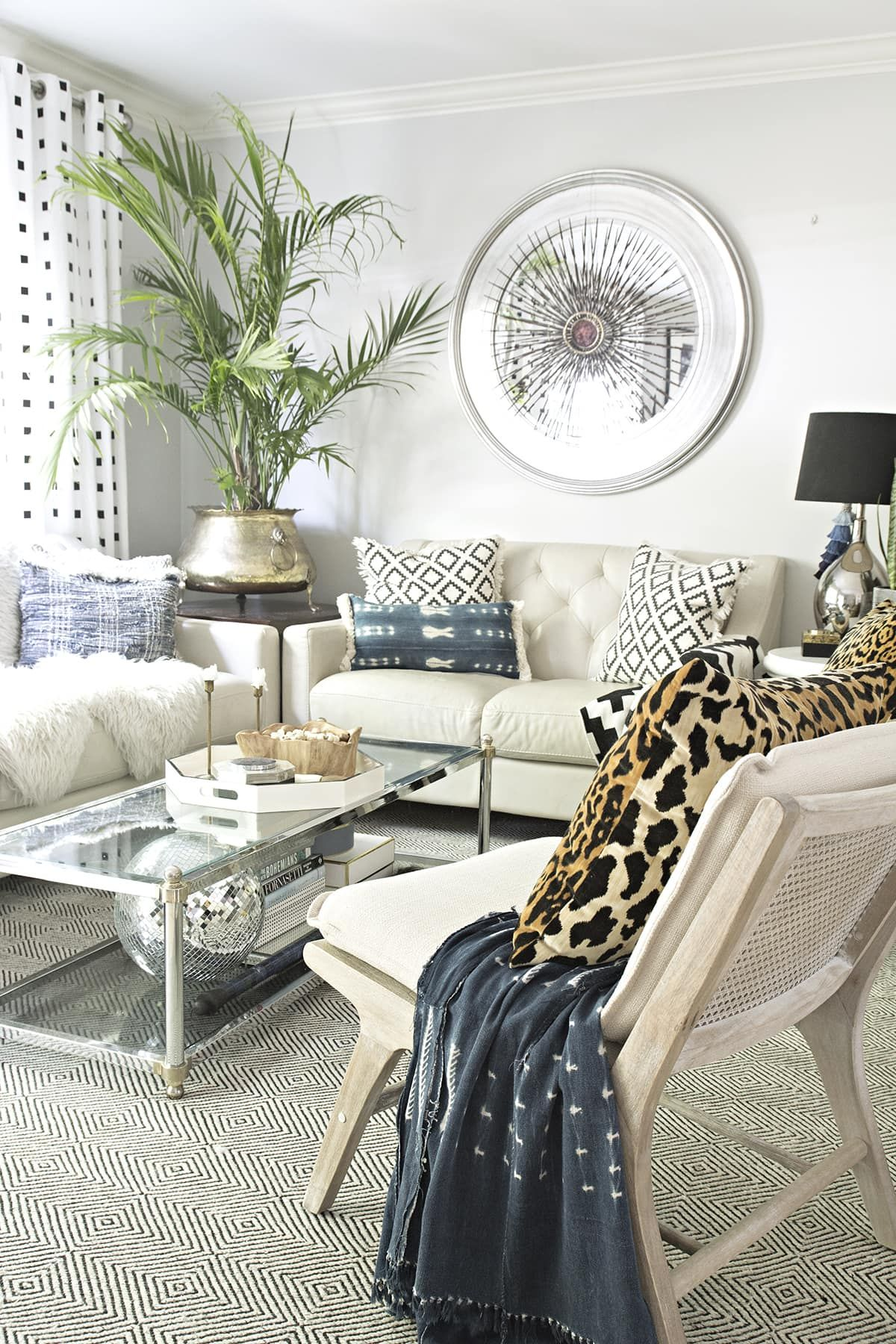 Neutral Living Room with a Boho Touch | Cuckoo4Design ...