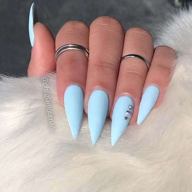 23 Stunning Ways to Wear Baby Blue Nails | Page 2 of 2 | StayGlam