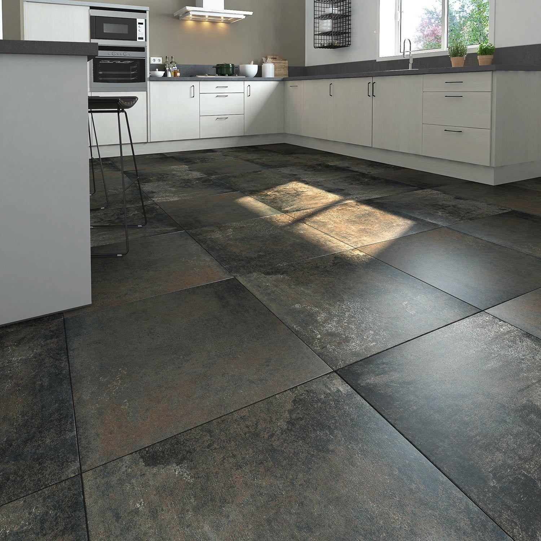 Carrelage Sol Et Mur Intenso Effet Beton Noir Metallise Preston L 60 X L 60 Cm Carrelage Sol Carrelage Carrelage Interieur