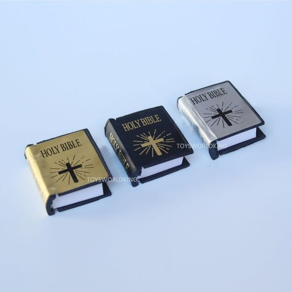 """3 x 1:6 Scale Holy Bible Mini Church Books Model Toys For 12/""""Action Figure Doll"""