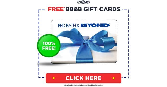Photo of Get It FREE – Free Bed Bath and Beyond Gift Cards