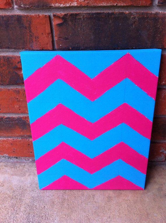 chevron painting | Crafts