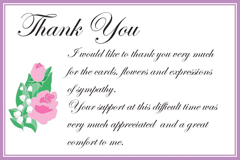Pin By Amy Vaughn On Keepsakes Sympathy Thank You Cards Funeral Thank You Cards Free Printable Greeting Cards