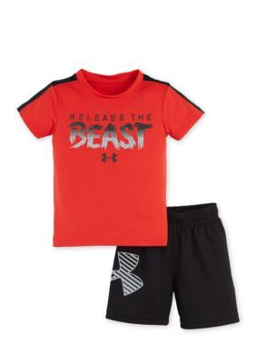 Under Armour  2-Piece Graphic Tee and Mesh Short Set