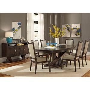 Southpark 7 Piece Dining Table Set In Charcoal