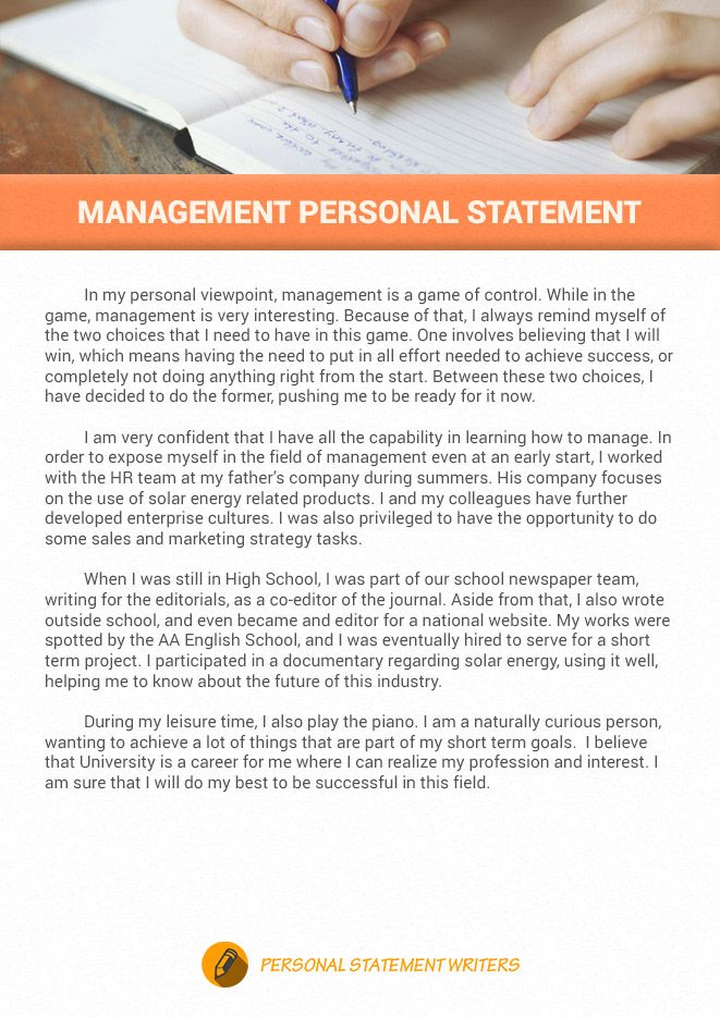 Are You Writing A Management Personal Statement Click The Link Below To Get Our Professional Help Wit Personal Statement Examples Personal Statement Statement